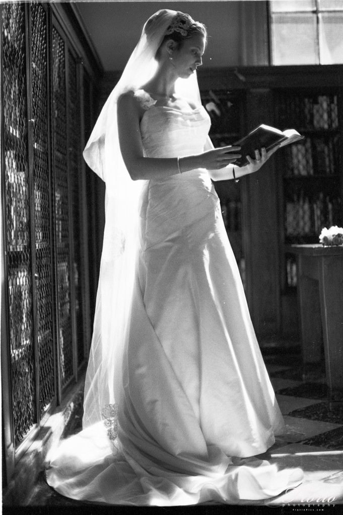 Bridal Portrait - Wilson Library